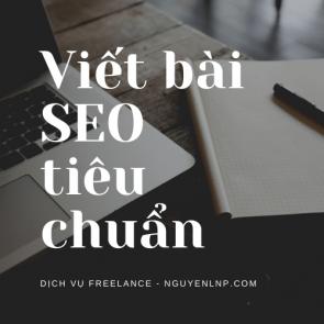 Freelancer viết bài SEO tiêu chuẩn - Nguyen LNP